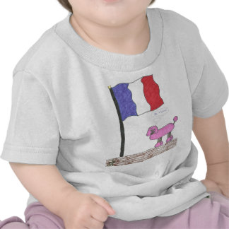 French Je T aime Poodle T Shirts