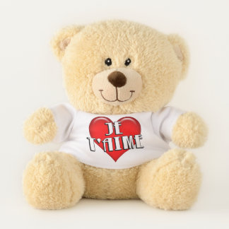 French Je T'aime I Love You Red Heart Teddy Bear