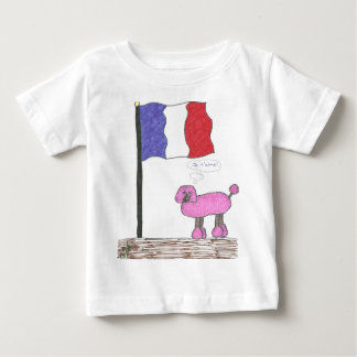 French Je T'aime Poodle T Shirts