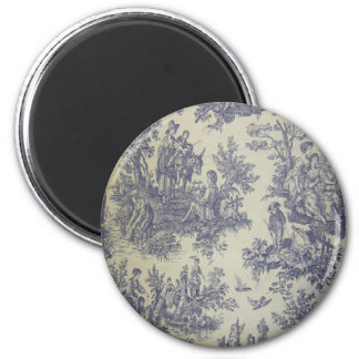 French Journey 2 Inch Round Magnet