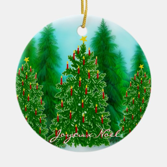 French Joyeux Noel Christmas Ornament