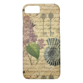 French keys seashell modern vintage French Lilacs Case-Mate iPhone Case