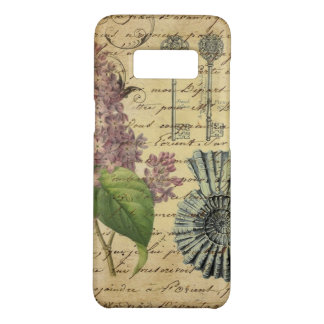 French keys seashell modern vintage French Lilacs Case-Mate Samsung Galaxy S8 Case