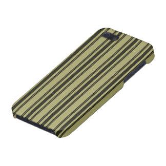 French Khaki Mattress Ticking Black Double Stripe Case For iPhone 5/5S