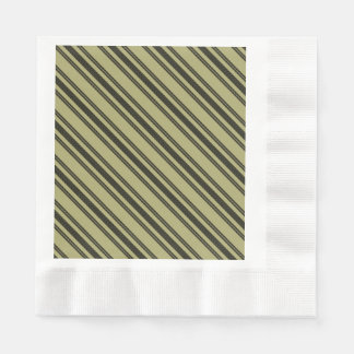 French Khaki Mattress Ticking Black Double Stripe Disposable Napkin