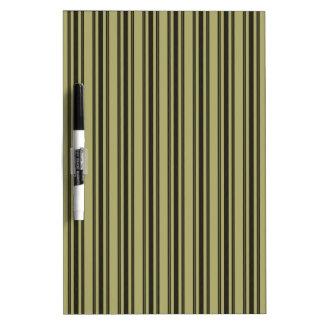 French Khaki Mattress Ticking Black Double Stripe Dry Erase Board