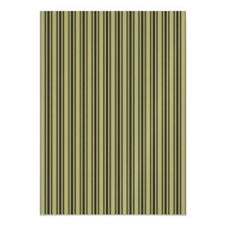 French Khaki Mattress Ticking Black Double Stripe Magnetic Invitations