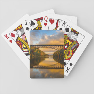 French King Bridge in Fall Poker Deck