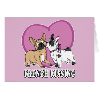 French Kissing Card