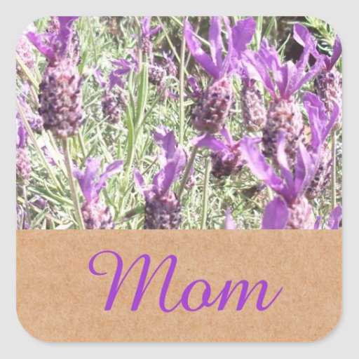 French Lavender Mom Sticker