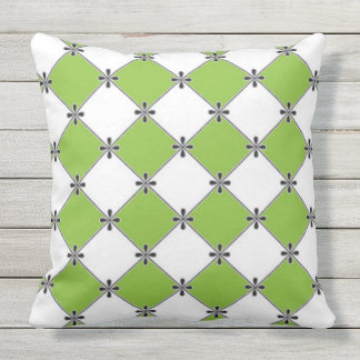 French-Lime-Diamond's-Outdoor-Indoor-Pillow-Set's Throw Pillow