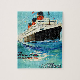French Line ~ ss Paris Jigsaw Puzzle