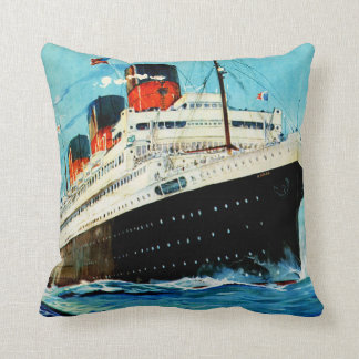 French Line ~ ss Paris Throw Pillow