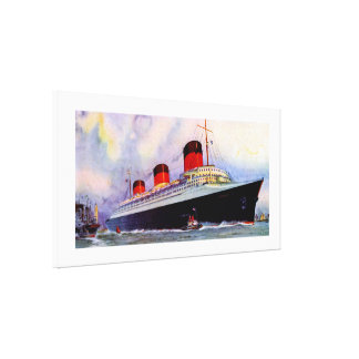 French Line's Normandie - XL Canvas Print