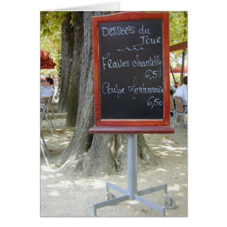 French Lunch Board Card