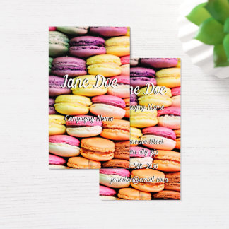 French macaron business card