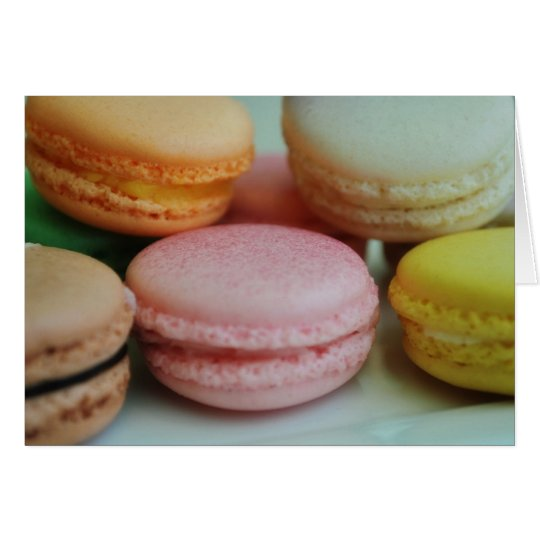 French macaron greeting card