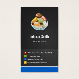 French Macaron Maker Macaroons Creative Innovative Business Card