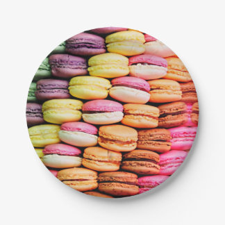 French macaron paper plate