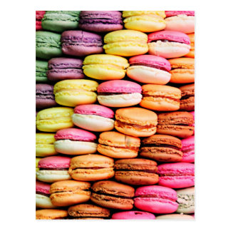 French macaron postcard