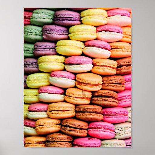 French macaron poster