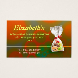 French macarons bakery business cards