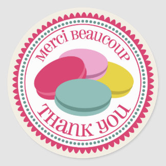 French Macarons Merci Envelope Seal Sticker