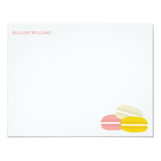 "French Macarons Note Cards 4.25"" X 5.5"" Invitation Card"