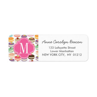 French Macarons Personalized Return Address Label