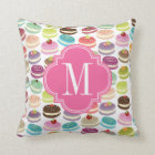 French Macarons Personalized Throw Pillow