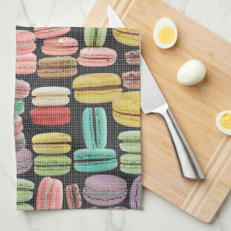 French Macarons Pop Art Kitchen Towel