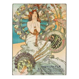 French Maiden in Prayer Postcard