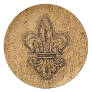 French Mardi Gras | Fleur De Lis New Orleans Dinner Plates