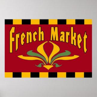 French Market Fleur De Lis Sign