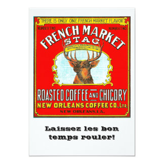 French Market Stag Card