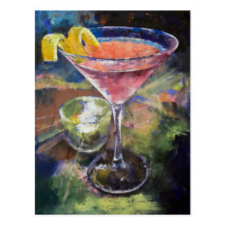 French Martini Postcard