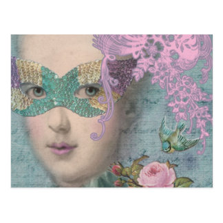 French Masquerade Postcard