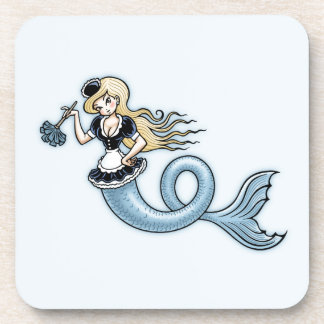 French Mer Maid Beverage Coasters
