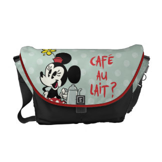 French Minnie   Minnie with Teapot Commuter Bag