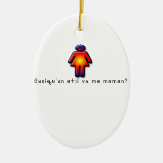 French-Mommy Ceramic Ornament