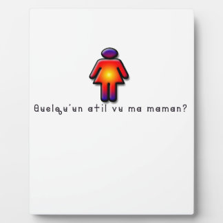 French-Mommy Plaque