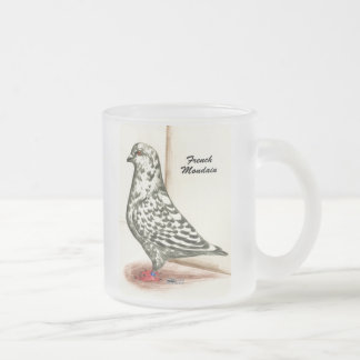 French Mondain 1973 Frosted Glass Coffee Mug