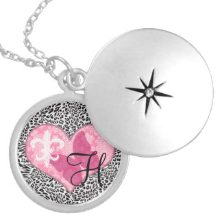 French Monogram Locket Necklace