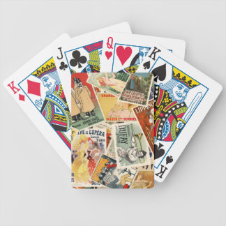 french montage 2 bicycle playing cards
