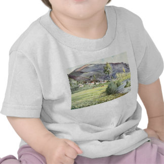 French Mountain Watercolor T-shirts