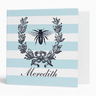 French Napoleonic Bee Wreath Graphic Vinyl Binder