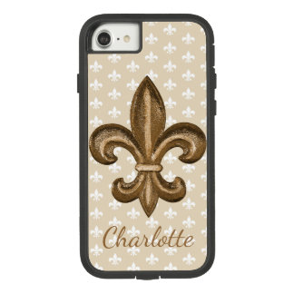 French New Orleans Gold Fleur De Lis Case-Mate Tough Extreme iPhone 8/7 Case