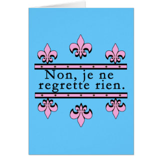 French No Regrets Products Card