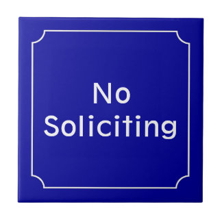 French No Soliciting Sign Tile