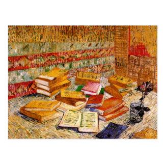 French Novels & Rose (F359) Van Gogh Fine Art Postcard
